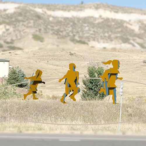 Run and Fly art piece by Joe Norman