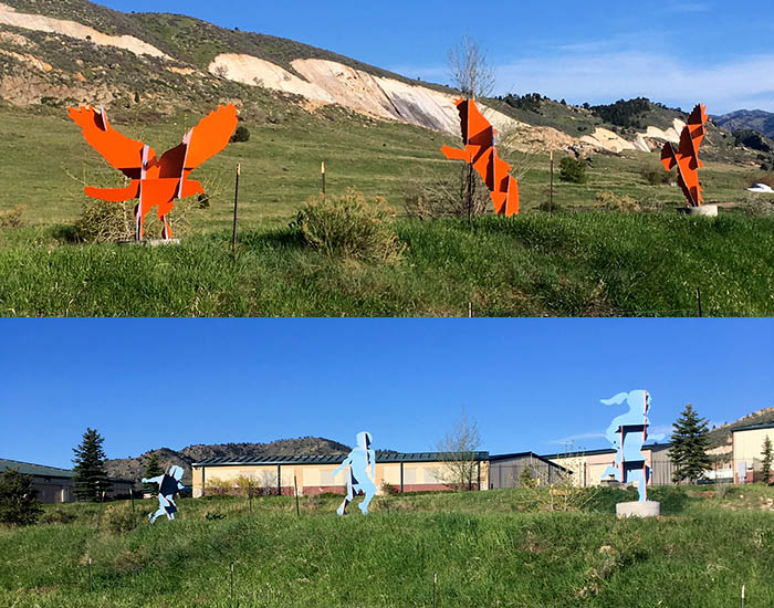 Run and Fly sculpture