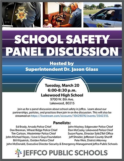 Community Forum on School Safety @ Lakewood High School | Lakewood | Colorado | United States