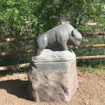 Buffalo Sculpture Shoshone Spirit