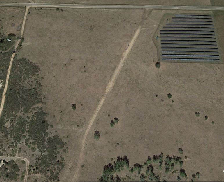 State land parcel aerial view