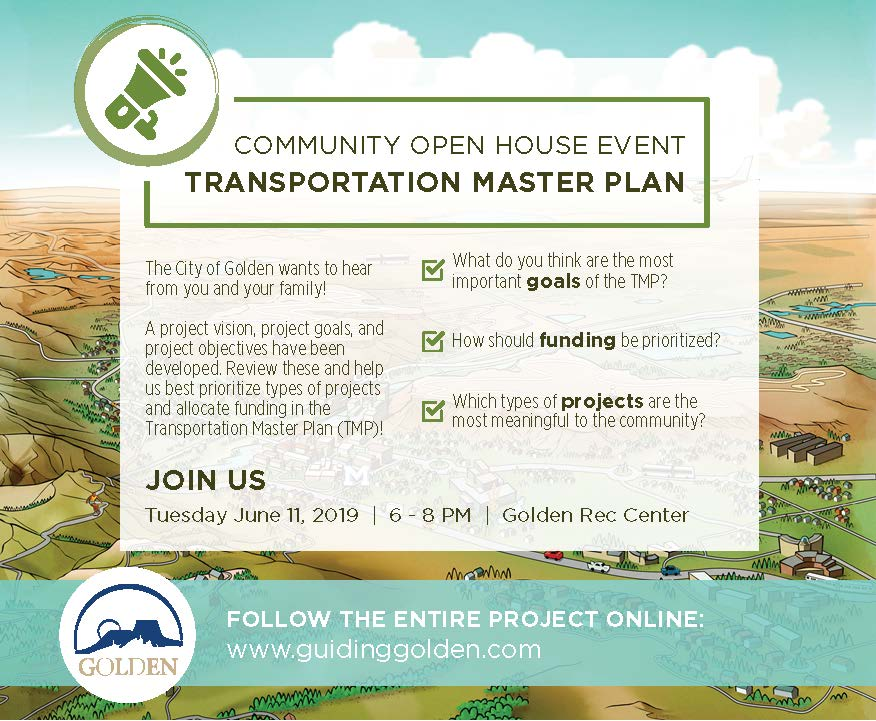Transportation Master Plan Community Open House @ Golden Community Center