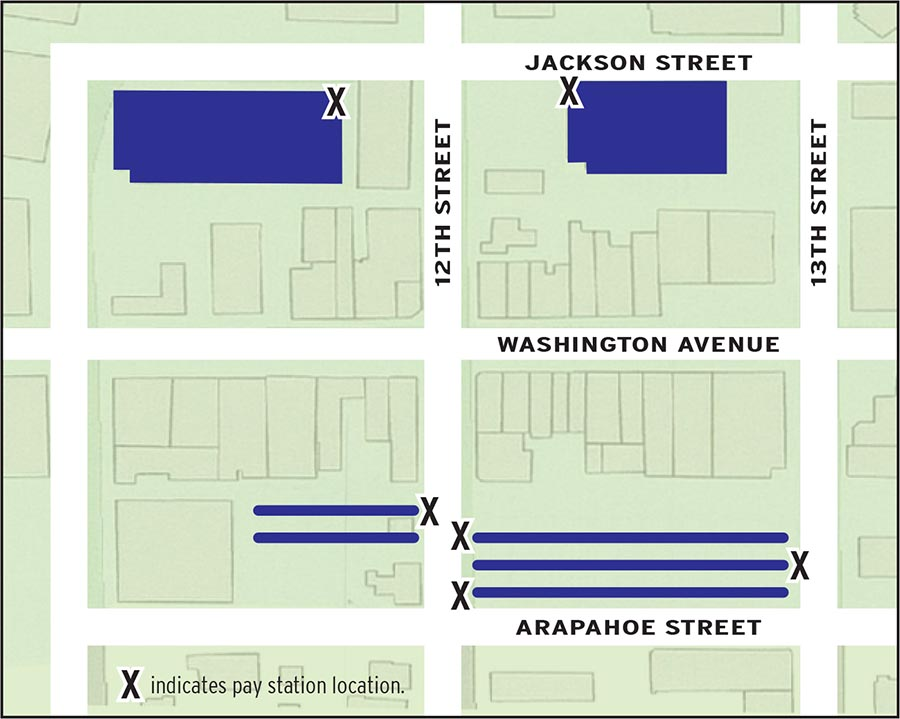 Two plus Hour Parking Map