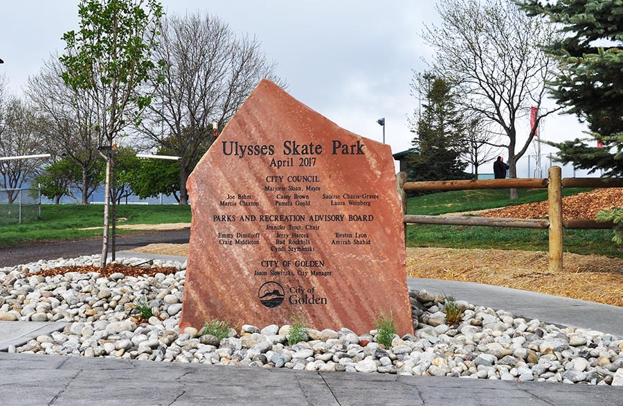 Ulysses Skate Park sign
