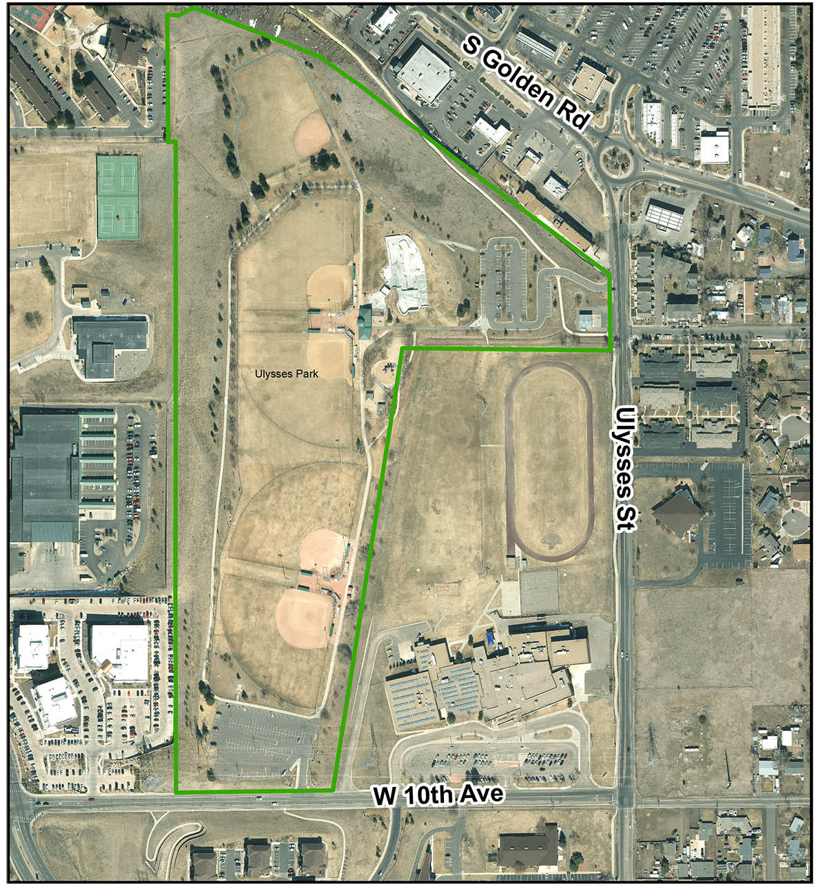 Ulysses Sports Complex Birds Eye View map