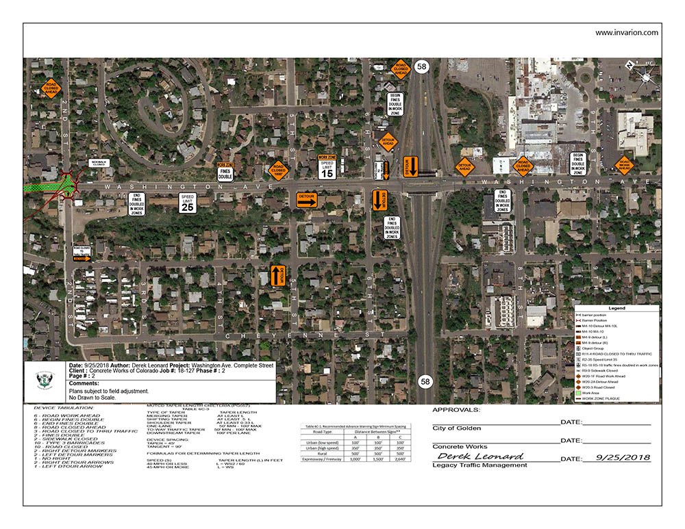Washington Ave Project Map of Phase 2 Road Closures page 2