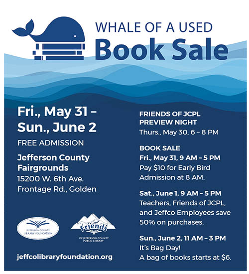 Jeffco Library Foundation Whale of a Used Book Sale @ Jefferson County Fairgrounds Exhibit Hall