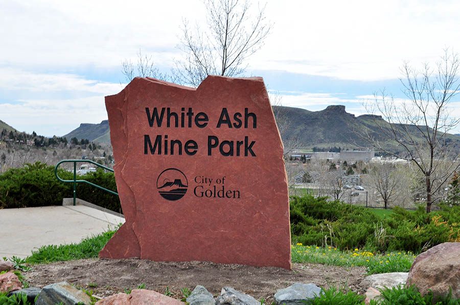 White Ash Mine Park Sign