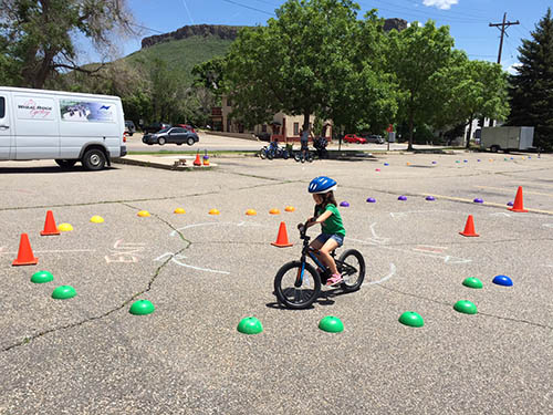 kid in the bike rodeo