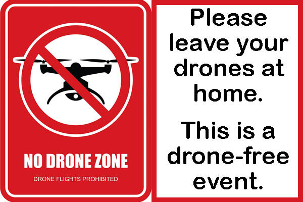 This is a drone-free event