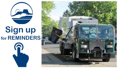 Sign up for Recycling and Trash Reminders