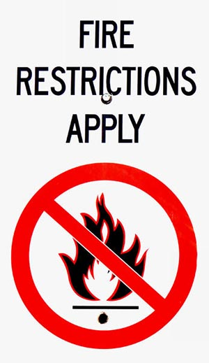 fire restrictions in effect