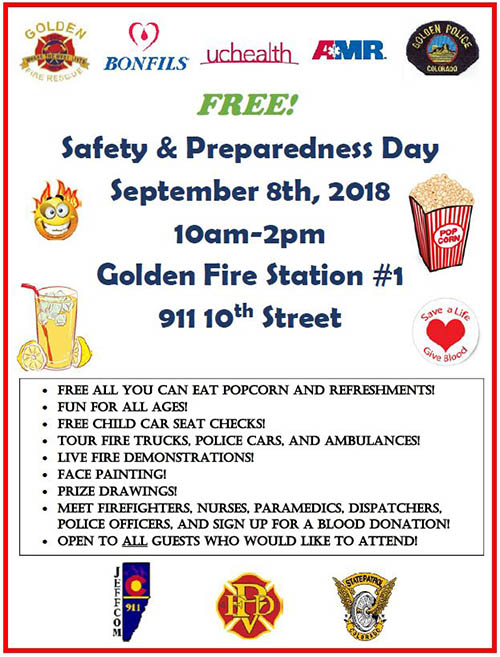 Golden Fire Safety & Preparedness Day @ Golden Fire Station #1 | Golden | Colorado | United States