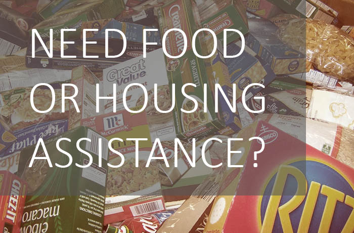 Need food or housing assistance?