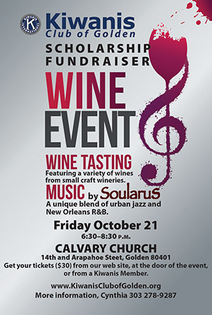 Kiwanis Scholarship Fundraiser Wine Event @ Calvary Church | Golden | Colorado | United States