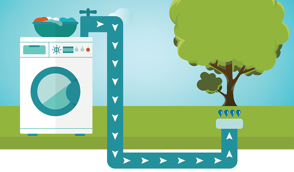 diagram of laundry to landscape process