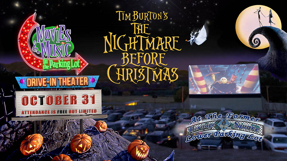 "Movies and Music in the Parking Lot presents ""The Nightmare Before Christmas"""