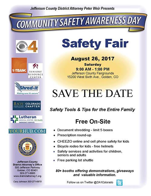 Community Safety Awareness Day Safety Fair @ Jefferson County Fairgrounds