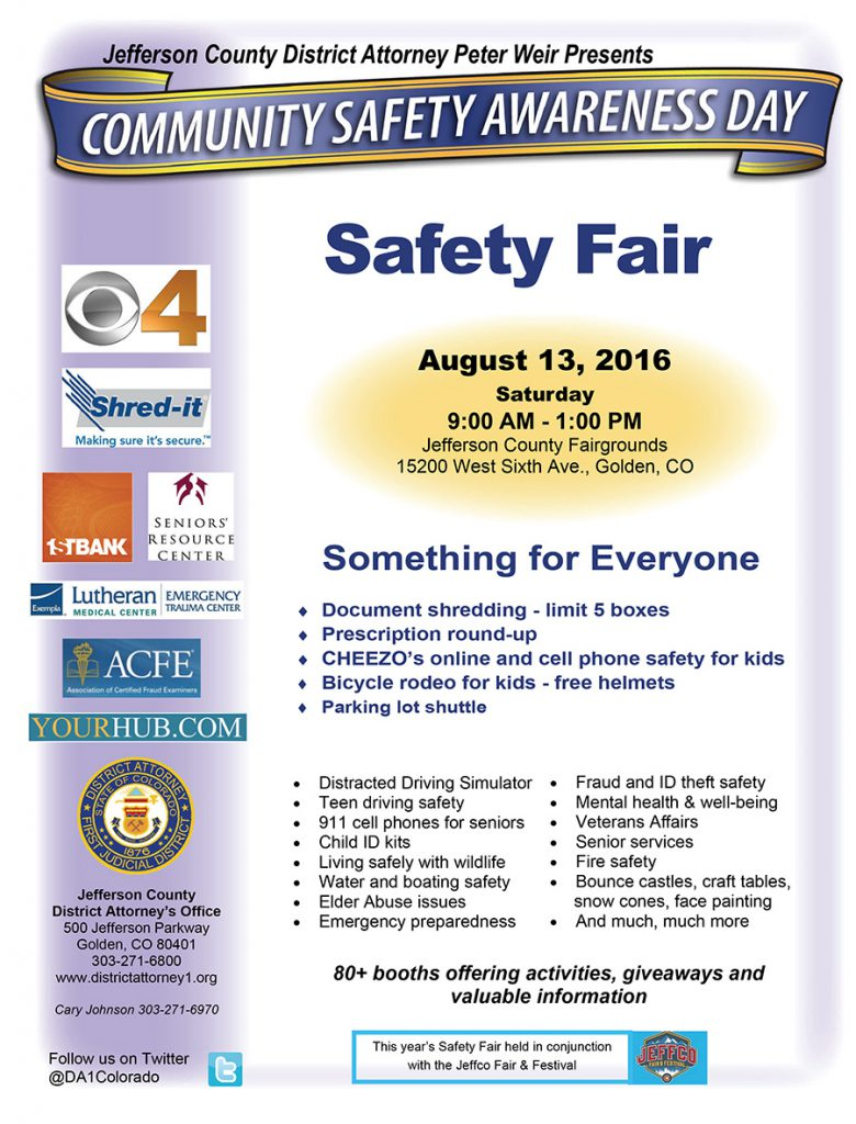District Attorney's Safety Fair @ Jefferson County Fairgrounds | Golden | Colorado | United States