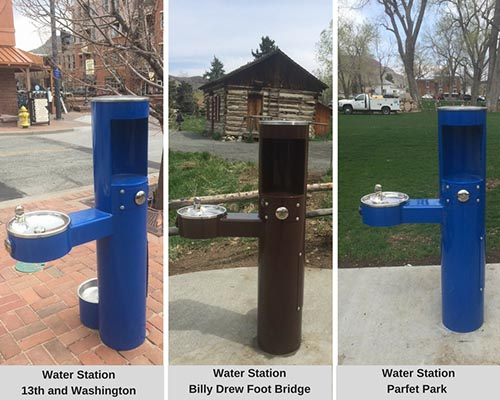 Downtown water stations