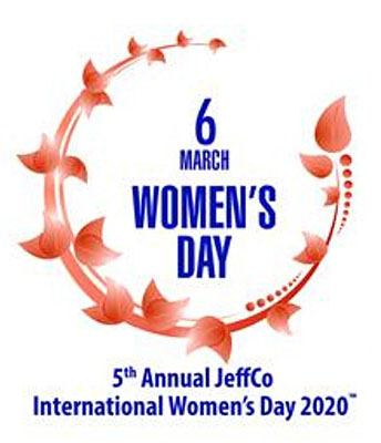 International Women's Day in Jeffco 2020 logo